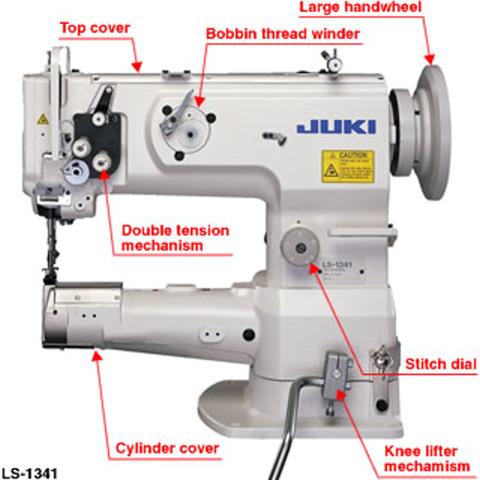 Juki LS40Cylinderbed 40needle Unisonfeed Lockstitch Machine Delectable Juki Cylinder Bed Sewing Machine